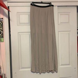 LC Lauren Conrad Maxi Skirt with Elastic Waistband